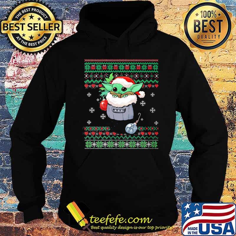 Official Yoda Baby Wear Pajama Santa Urgly Xmas Shirt Hoodie