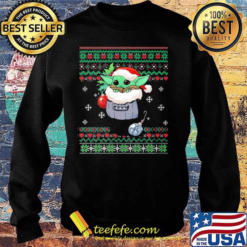 Official Yoda Baby Wear Pajama Santa Urgly Xmas Shirt Sweater