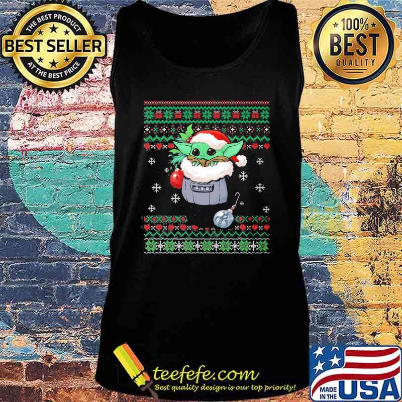 Official Yoda Baby Wear Pajama Santa Urgly Xmas Shirt Tank top