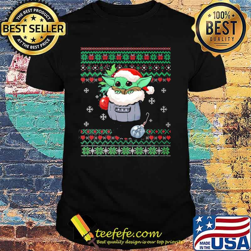 Official Yoda Baby Wear Pajama Santa Urgly Xmas Shirt