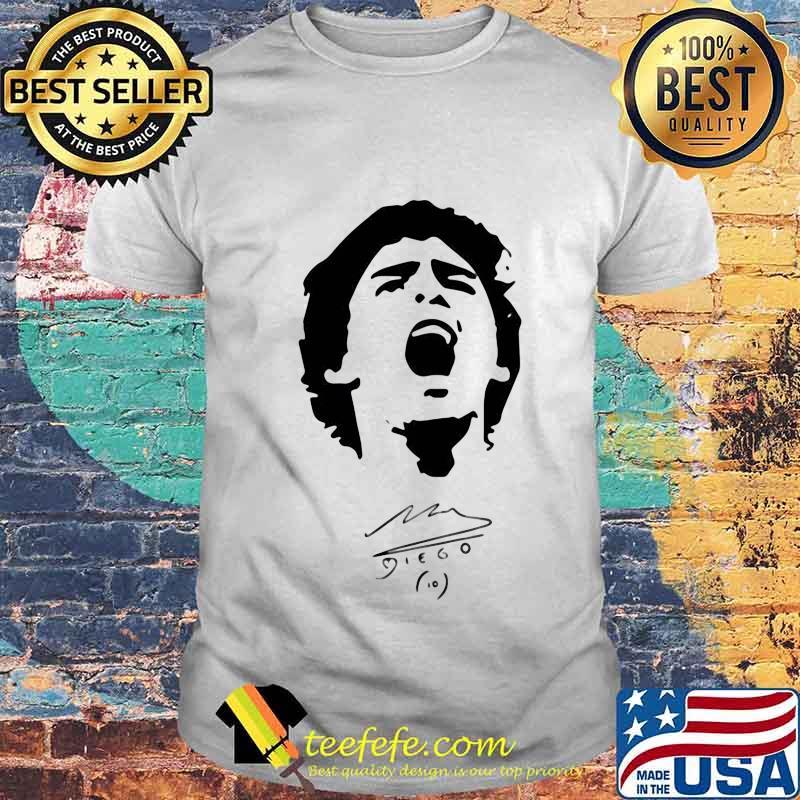 R.I.P 10 Diego Maradona Legend Argentine Signature Shirt