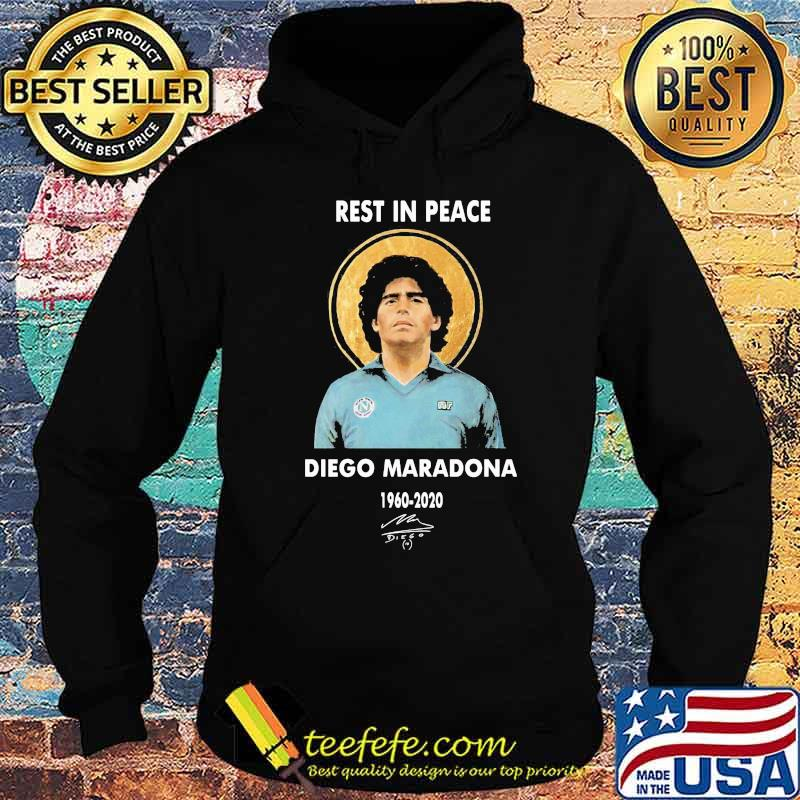 Rest In Peace Diego Maradona 1960 2020 Signature Shirt Hoodie