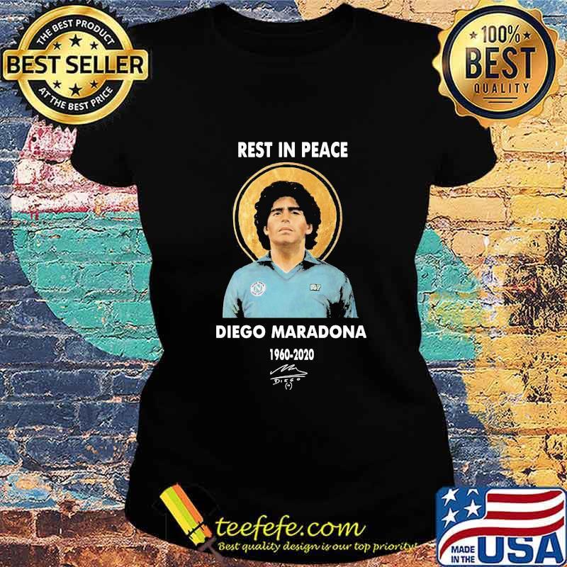 Rest In Peace Diego Maradona 1960 2020 Signature Shirt Ladies tee