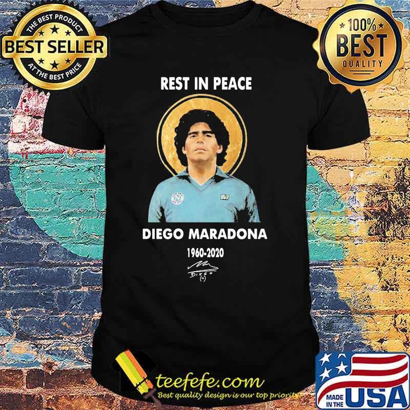 Rest In Peace Diego Maradona 1960 2020 Signature Shirt