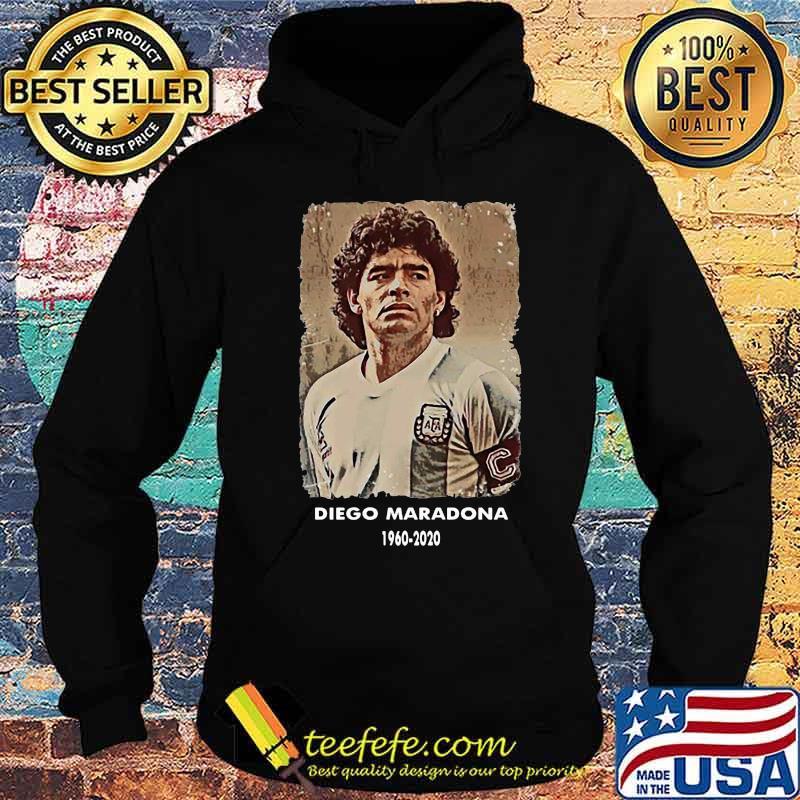 Rip Diego Maradona 1960 2020 Football Shirt Hoodie