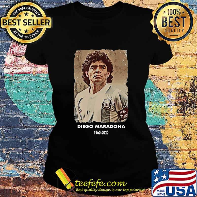 Rip Diego Maradona 1960 2020 Football Shirt Ladies tee