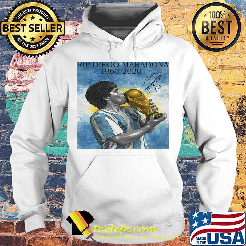 Rip Diego Maradona Football 1960 Legend Argentina World Cup N10 Signature Shirt Hoodie