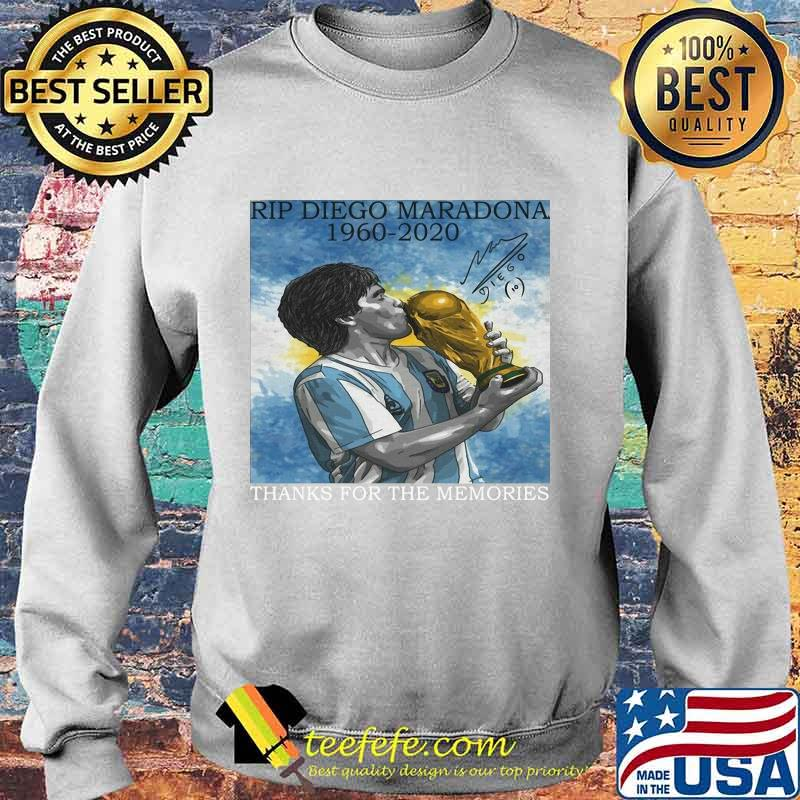 Rip Diego Maradona Football 1960 Legend Argentina World Cup N10 Signature Shirt Sweater
