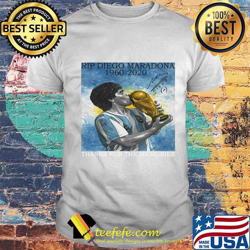 Rip Diego Maradona Football 1960 Legend Argentina World Cup N10 Signature Shirt