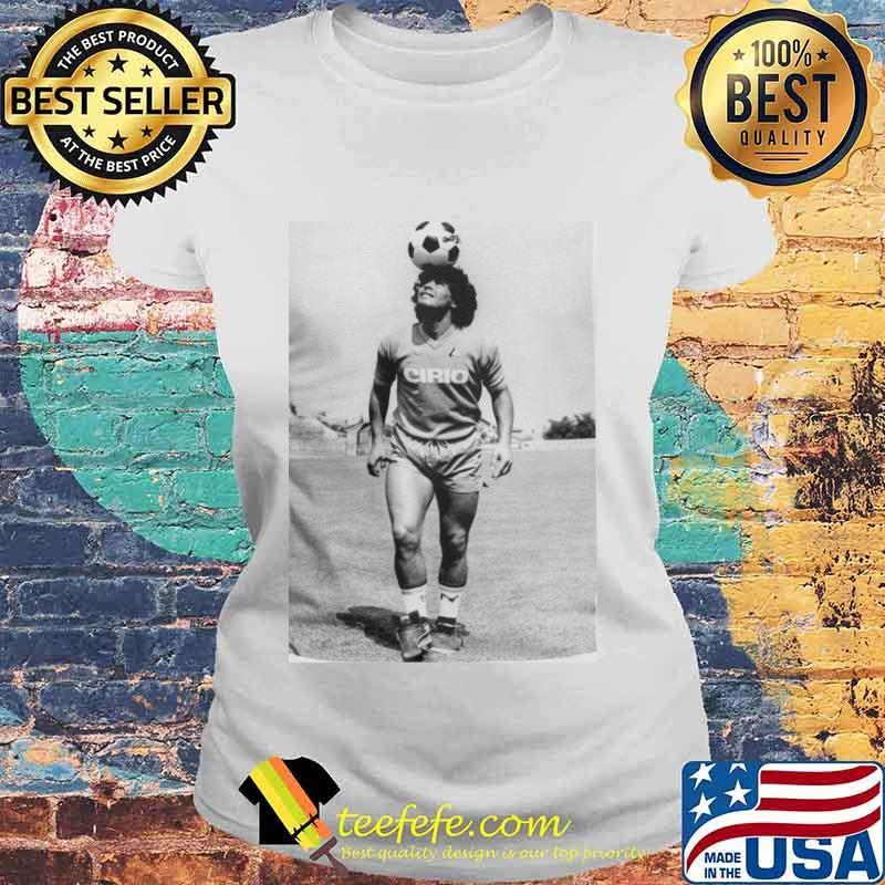 Rip Diego Maradona Football Shirt Laides tee