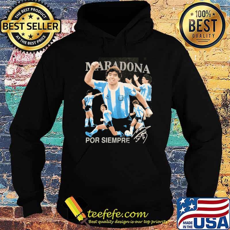 Rip Diego Maradona Por Siempre Signature Shirt Hoodie