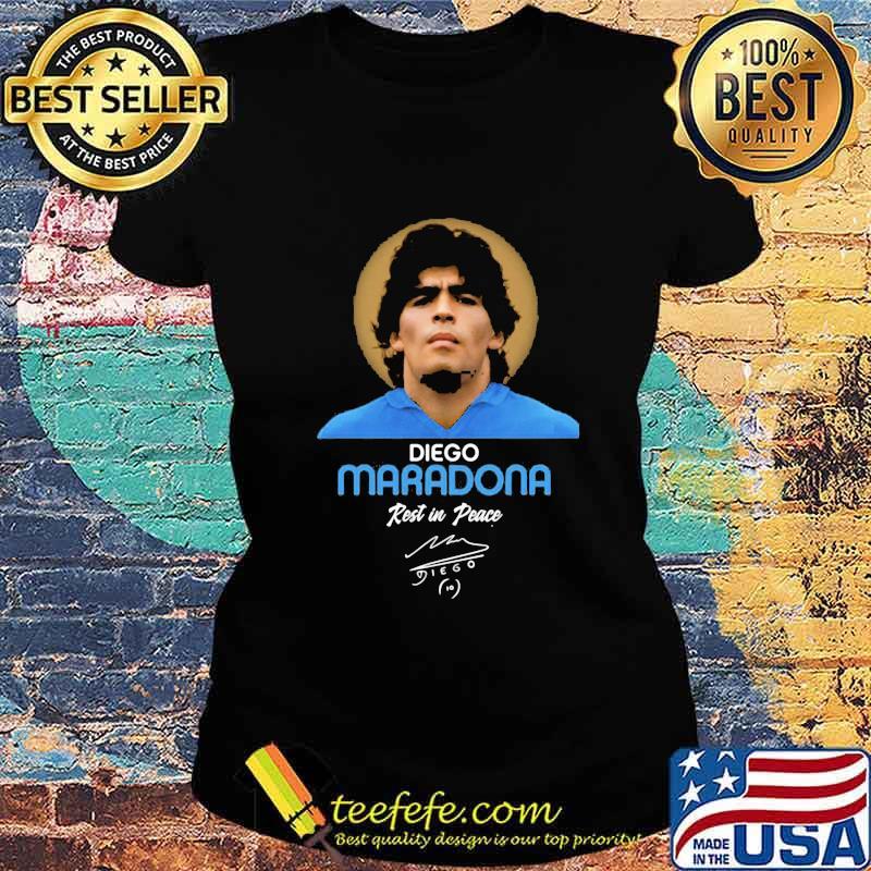 Rip Diego Maradona Rest In Peace Signature Shirt Ladies tee