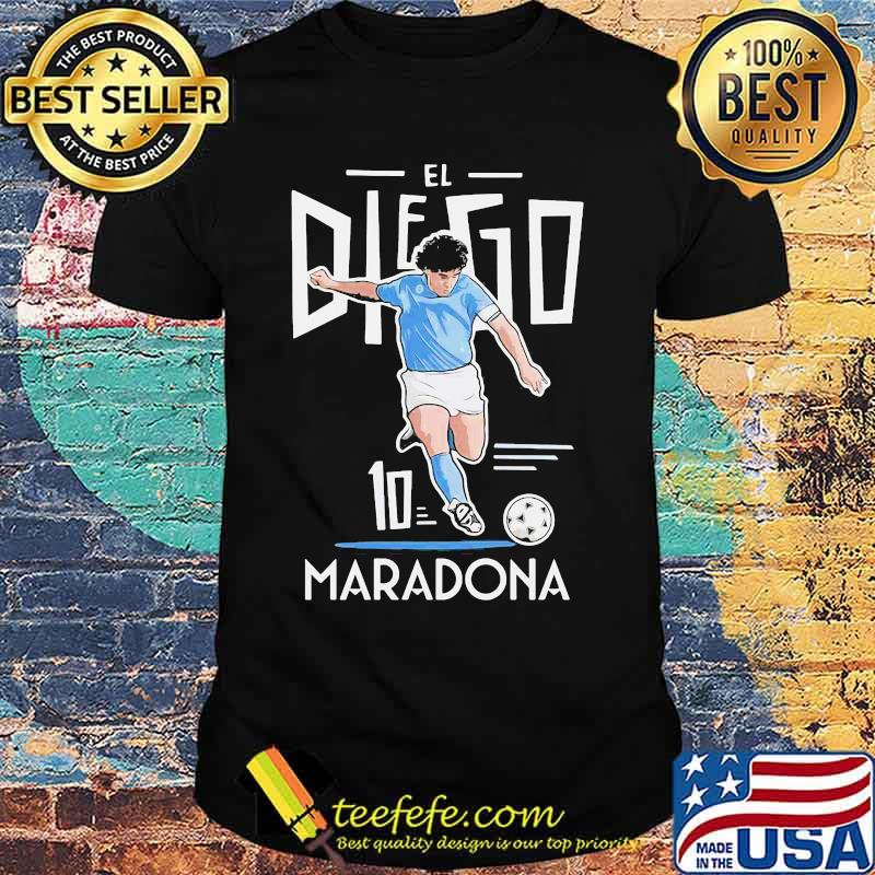 Rip El Diego Maradona Ten Football Shirt