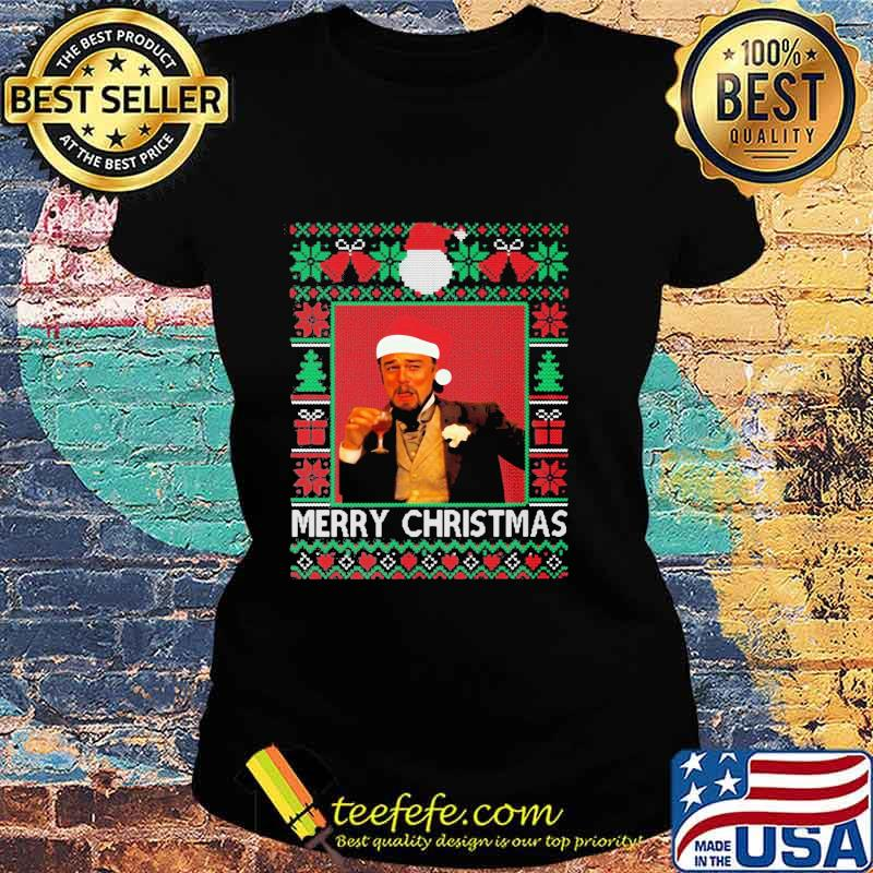 Santa Claus Leonardo Big Fat Quarantined Christmas 2020 Pandemic Meme Ugly Christmas Shirt Ladies tee