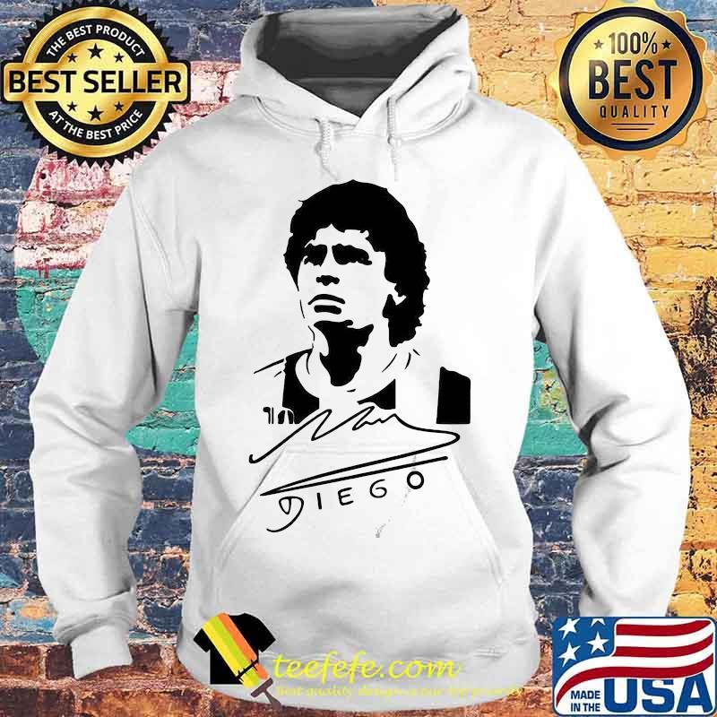 Signature Diego Maradona Legend Argentina World Cup N10 Shirt Hoodie