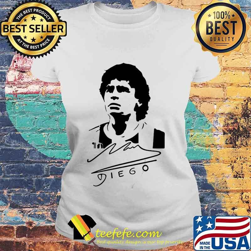 Signature Diego Maradona Legend Argentina World Cup N10 Shirt Laides tee