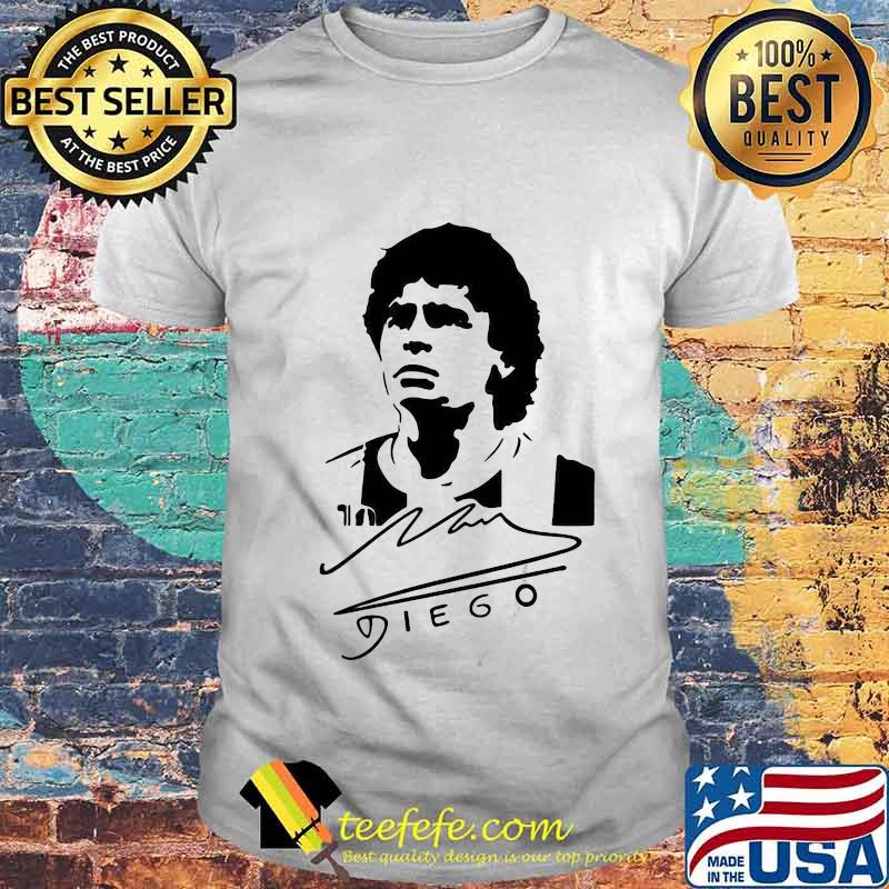 Signature Diego Maradona Legend Argentina World Cup N10 Shirt