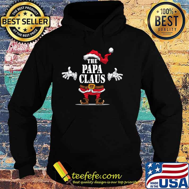 The Papa Claus Matching Family Group Christmas Party Pajama Shirt Hoodie