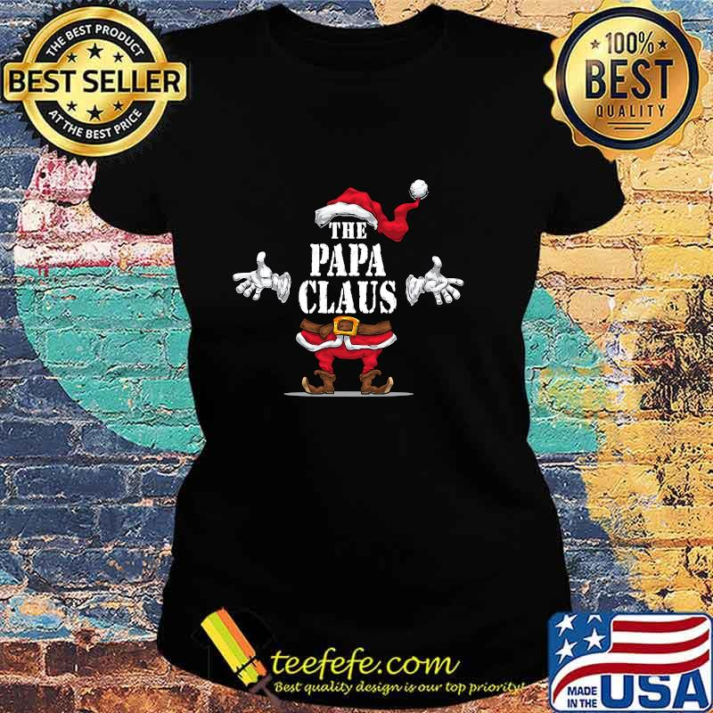The Papa Claus Matching Family Group Christmas Party Pajama Shirt Ladies tee