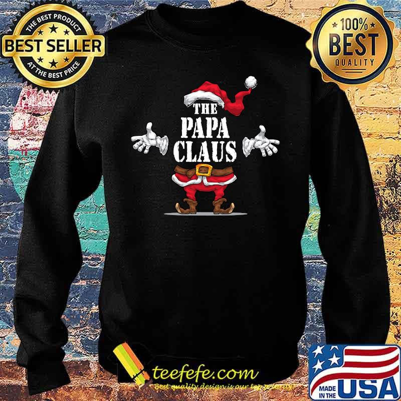 The Papa Claus Matching Family Group Christmas Party Pajama Shirt Sweater