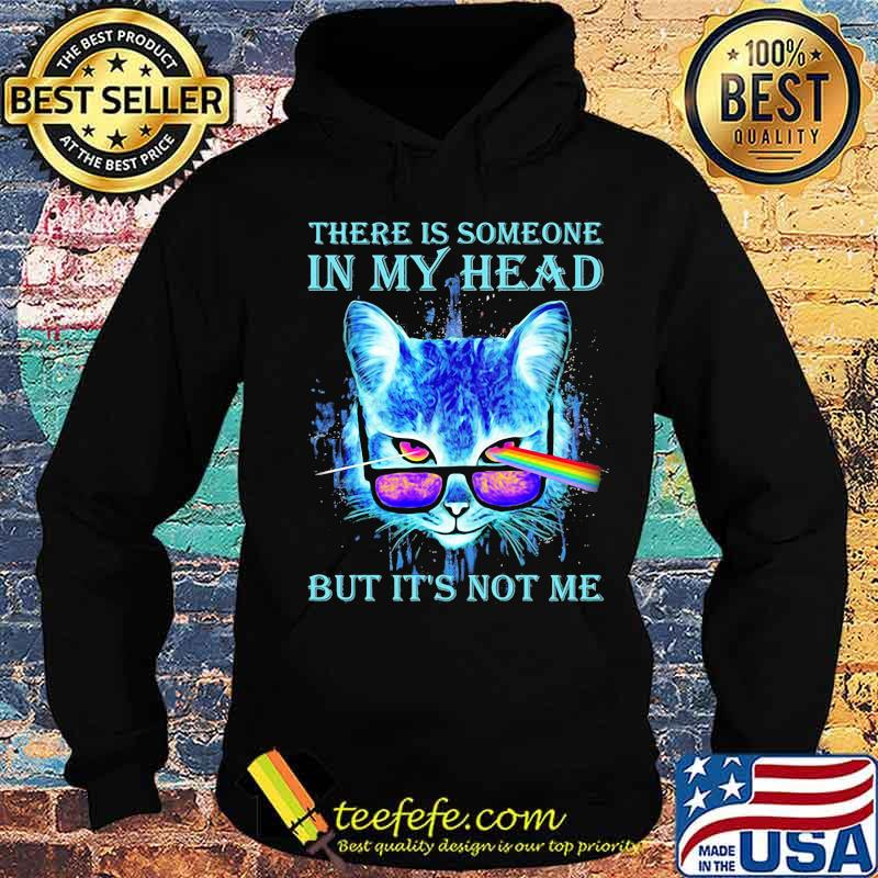 There Is Someone In My Head But It's Not Me Cat Sunglasses Pink Floyd Lgbt Shirt Hoodie