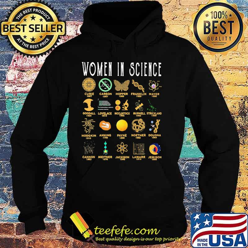 Women In Science Curie Carson Hopper Franklin Mayer Shirt Hoodie