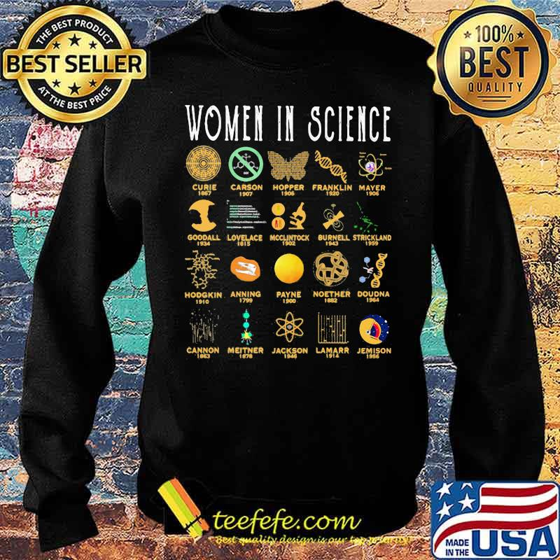 Women In Science Curie Carson Hopper Franklin Mayer Shirt Sweater