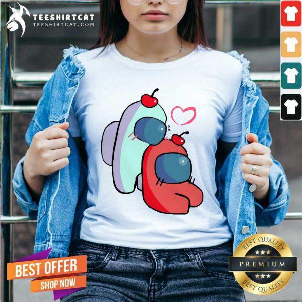 Unisex Vneck Hoodie Kid Tee Love Is Among Us Sweatshirt Among Us Heart,For Gamer Kids Valentines Day gift T-shirt Gamers gift- Unisex Sweatshirts