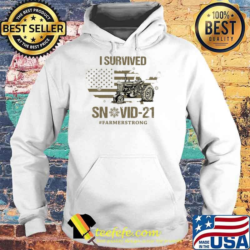I Survived 21 #Farmerstrong American Flag Shirt Hoodie