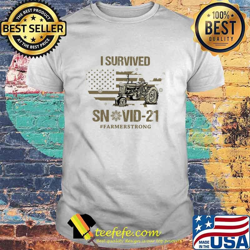 I Survived 21 #Farmerstrong American Flag Shirt