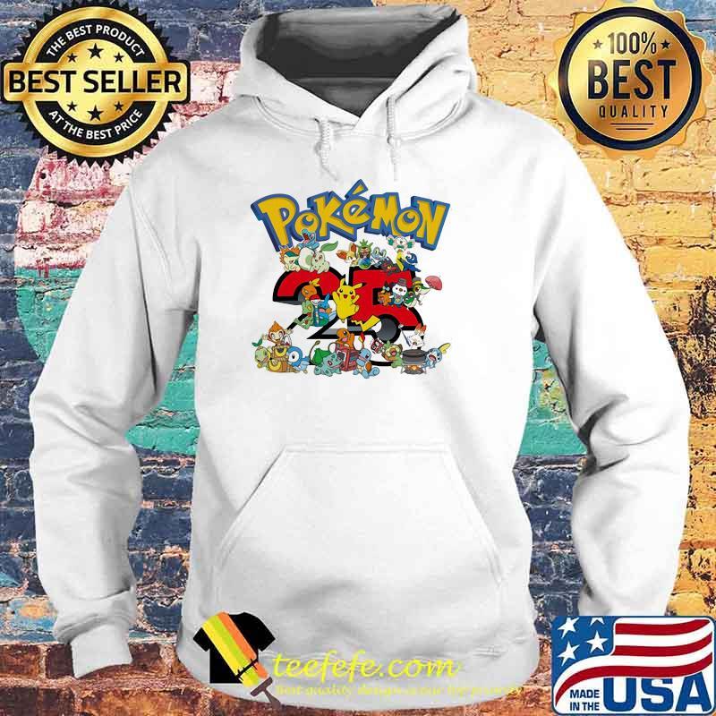 Pokemon 25 Th Anniversary Shirt Hoodie
