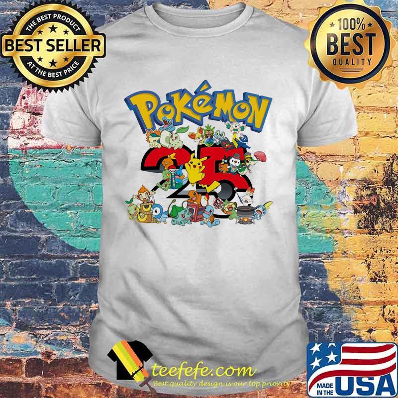 Pokemon 25 Th Anniversary Shirt