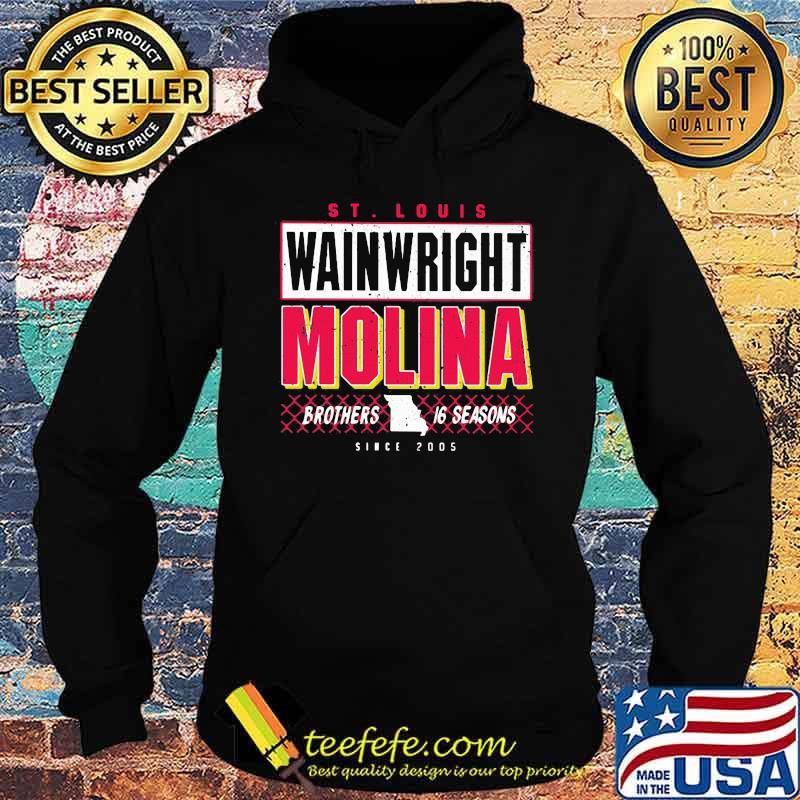 St Louis Wainwright Molina Brothers 16 Seasons Shirt Hoodie