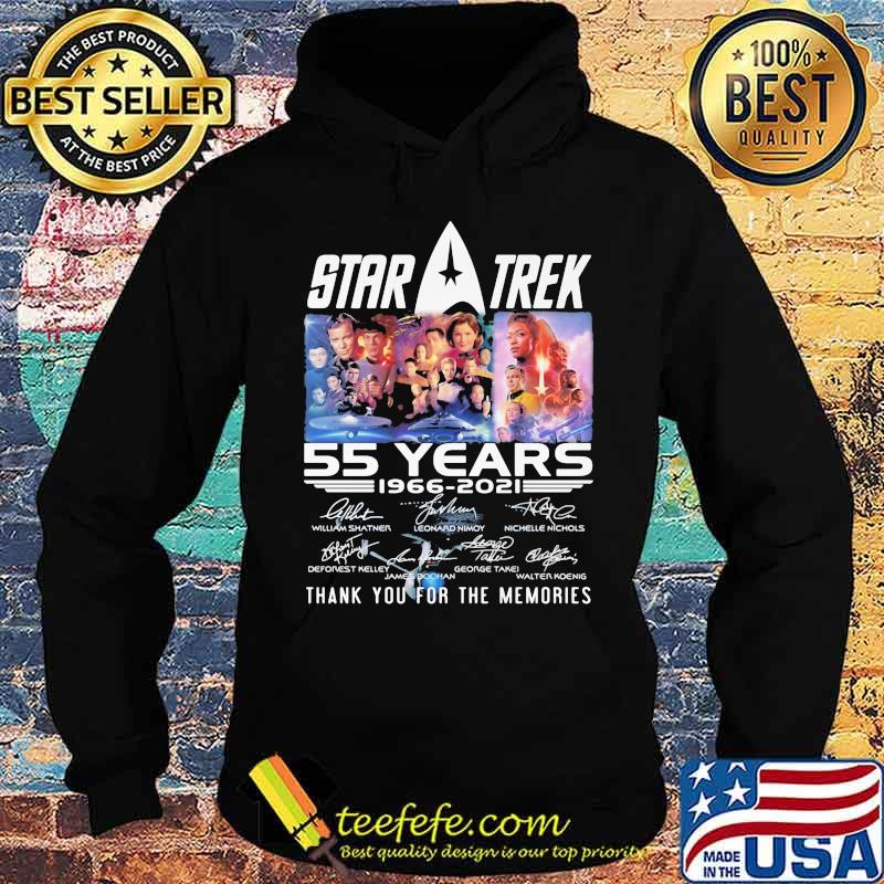 Star Treck 55 Years 1966 2021 Thank You For The Memories Shirt Hoodie
