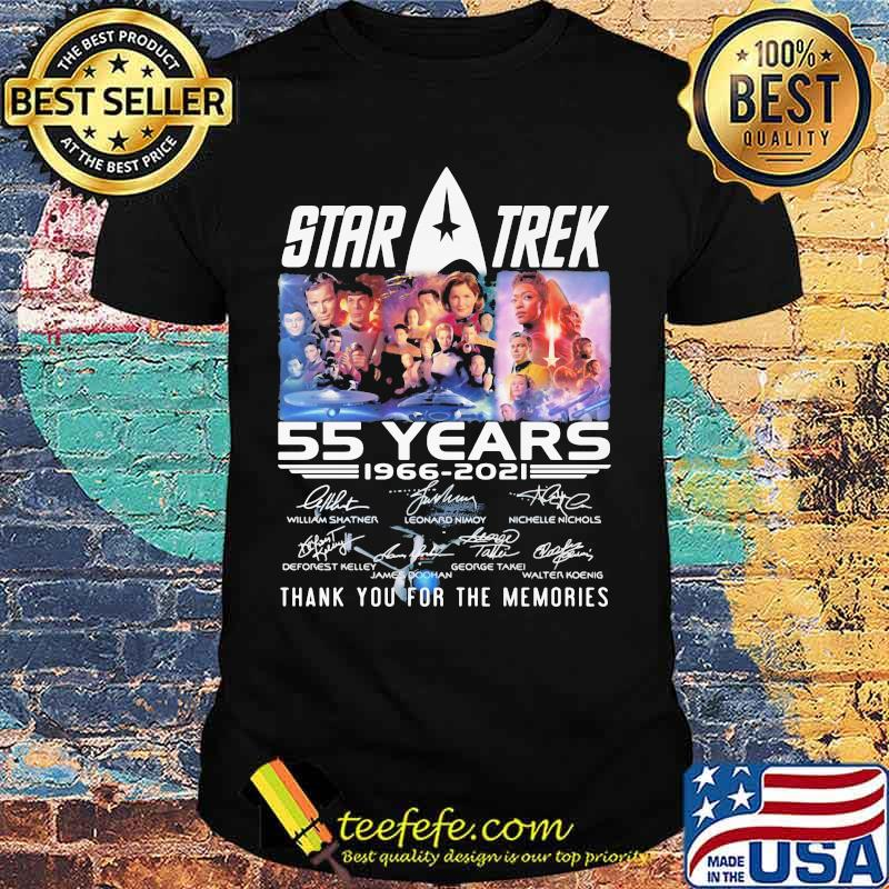 Star Treck 55 Years 1966 2021 Thank You For The Memories Shirt