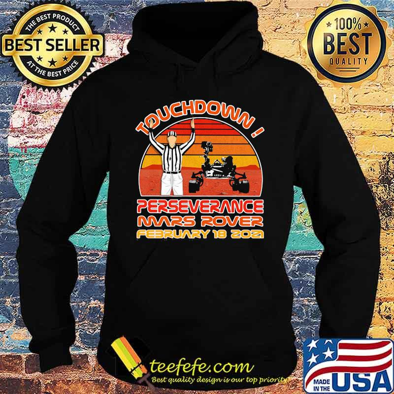 Touchdown Perseverance Mars Rover February 2021 Sunset Vintage Shirt Hoodie