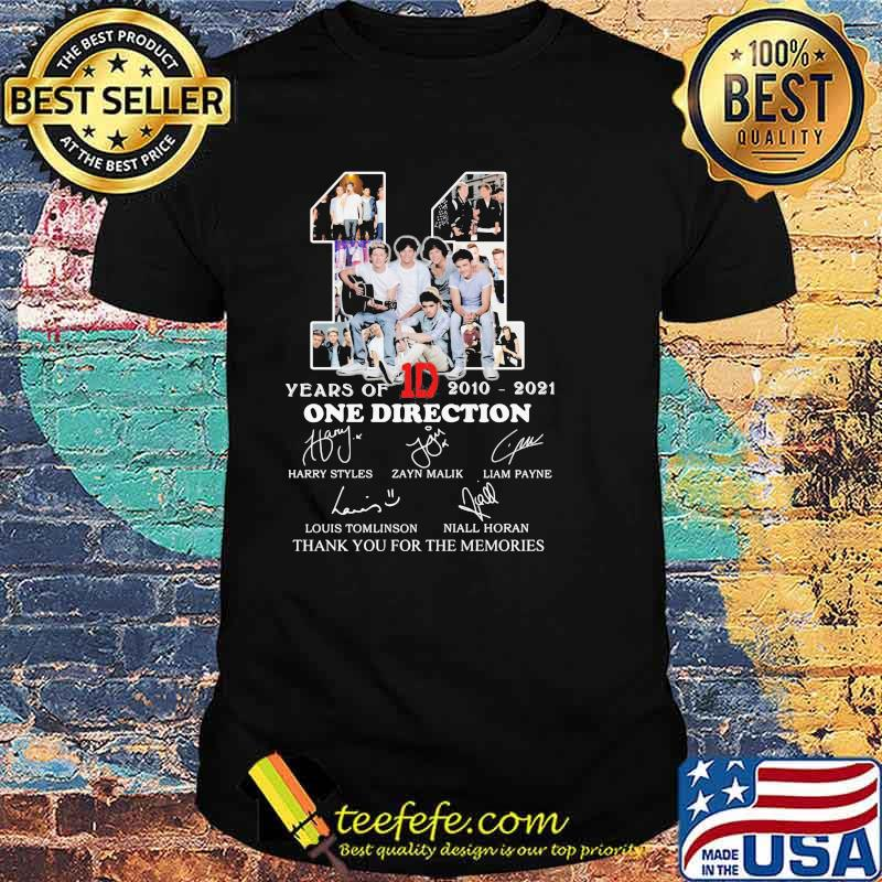 11 Years Of 2010 2021 One Direction Thank You For The Memories Signature Shirt