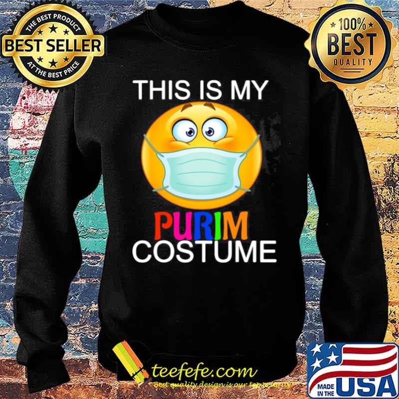 This Is My Happy Purim Costume Funny Jewish Face Mask Sweater