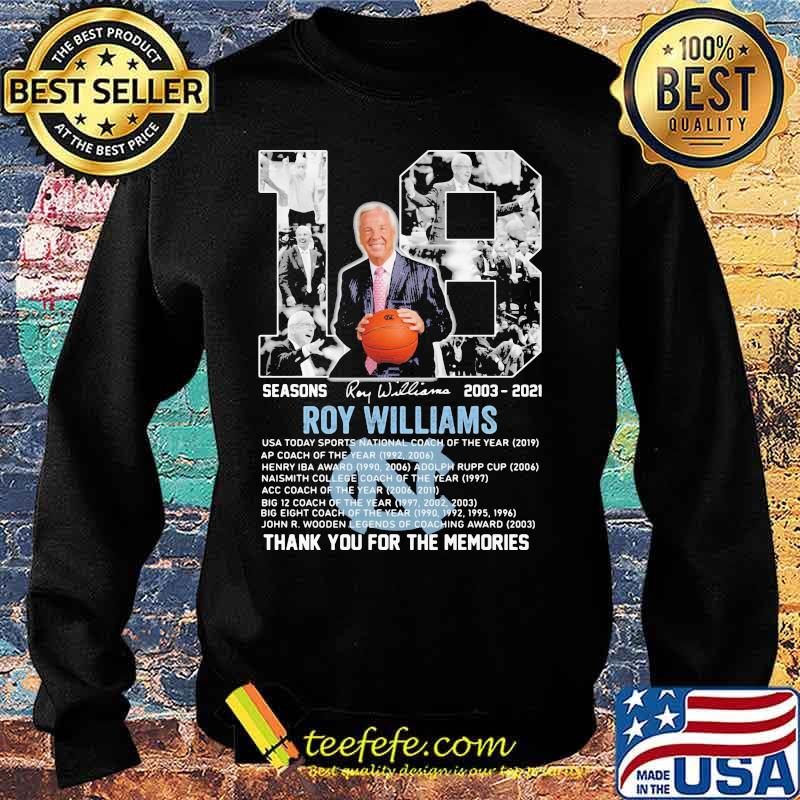 18 Seasons 2003 2021 Roy Williams Thank You For The Memories Signature Shirt Sweater