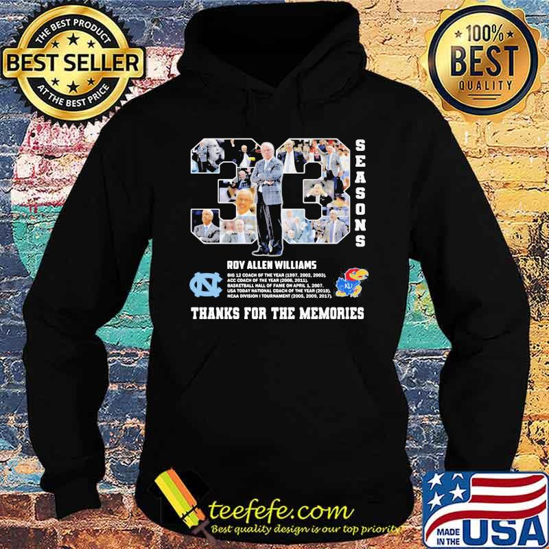33 Seasons Roy Williams Thanks For The Memories Shirt Hoodie