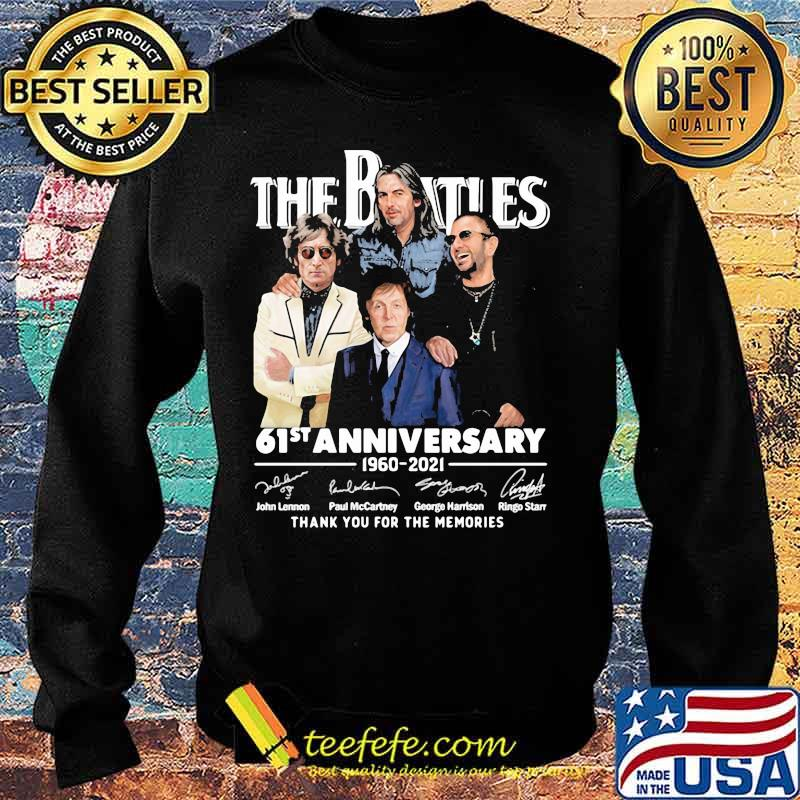 The Beatles 61st Anniversary 1960 2021 Thank You For The Memories Signature Shirt Sweater