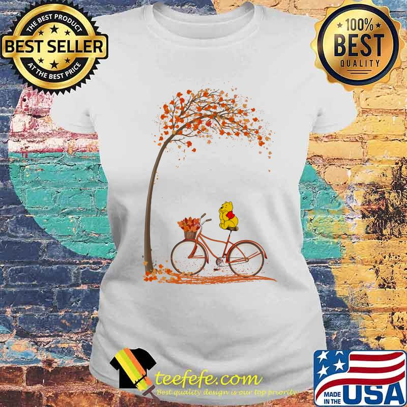 Autumn Pooh Bicycle Shirt Laides tee