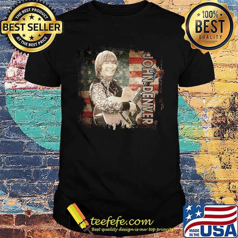 Graphic John Art Denver Vaporware Music Retro Flag American Shirt