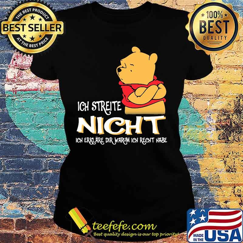 Ich Streite Night Dir Warum Ich Recht Hase Pool Shirt Ladies tee