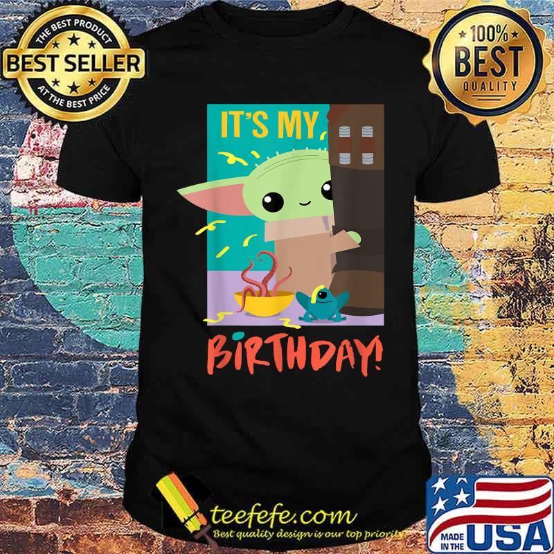 It's My Birthday Baby Yoda Star Wars The Mandalorian Shirt
