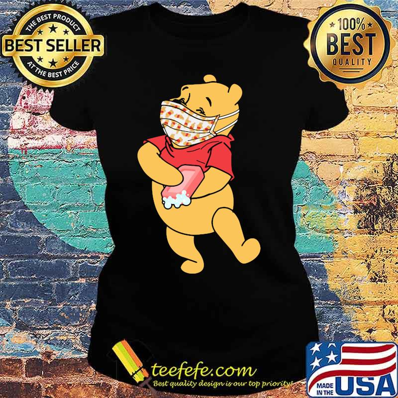 Pooh Wear Mask Corona Virus Shirt Ladies tee