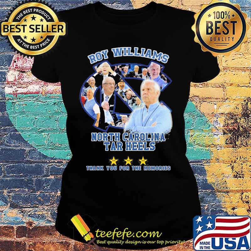 Roy Williams North Carolina 2003 2021 Thank You For The Memories Signature Shirt Ladies tee