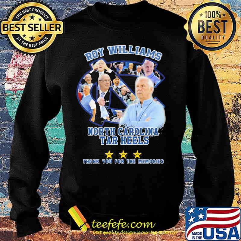 Roy Williams North Carolina 2003 2021 Thank You For The Memories Signature Shirt Sweater