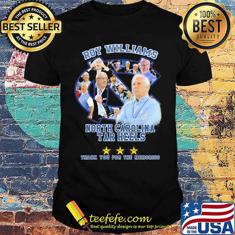 Roy Williams North Carolina 2003 2021 Thank You For The Memories Signature Shirt