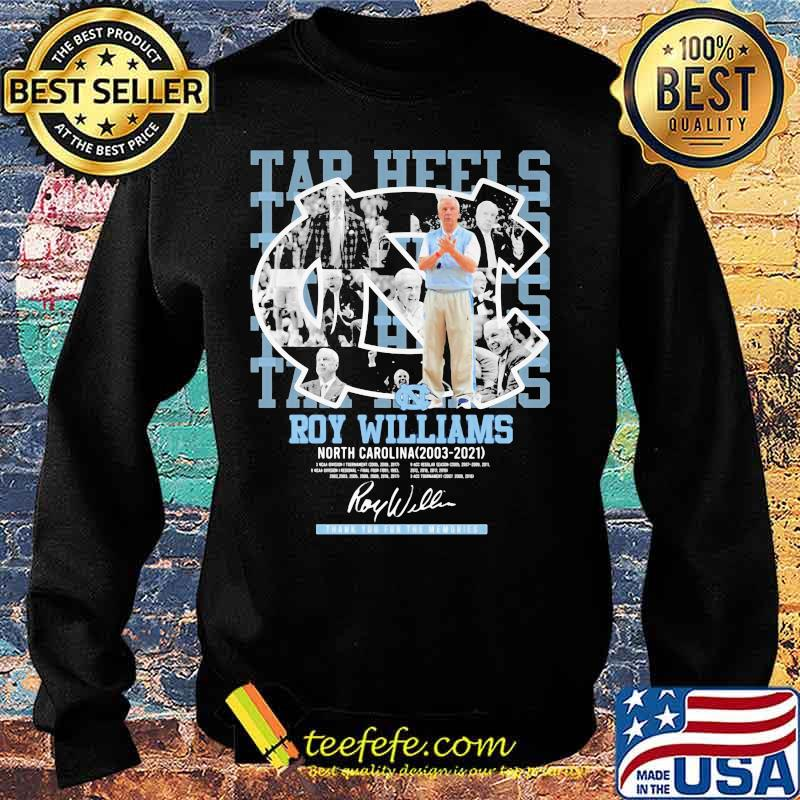 Roy Williams North Carolina Tar Heels Thank You For The Memories Shirt Sweater